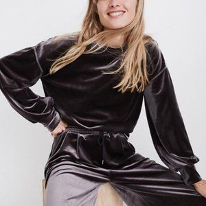 MADEWELL Velvet Balloon Sleeve Sweatshirt {MM10}